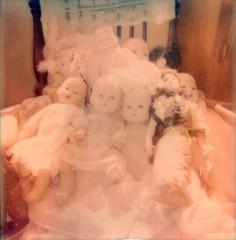 doll babies (bunchadogs & susan) Tags: impossiblecamerai1 expiredip600colorfilm dolls fortunacalifornia
