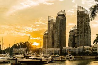 Cloudy Sunset at Reflections at Keppel Bay