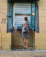 Arte Urnbano Zaragoza Muchacha en la ventana - SALVADOR DALI (Virginia Vicente Orna) Tags: muchacha en la ventana salvador dali arte urbano zaragoza graffiti graffity