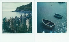 Boat Life 2 (Ray Liu Photography) Tags: dorset polaroid boats polaroidweek instant lulworthcove lymesregis