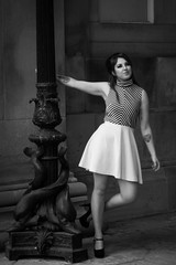 Ruby Wilde 60s theme shoot (Mr Nessy) Tags: andrewness sonyalpha sonya77ii liverpool st georges hall stgeorgeshall limestreet williambrownstreet conservation area model girl pretty 60s sixties retro vintage rocknroll 1960s minidress bw blackandwhite cute rubywilde purpleport classical style fashion architecture buildings columns