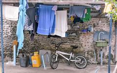 Laundry (Arushad) Tags: arushad maldives travel arushadahmed bicycle clothes clothesline dash8x laundry towels uleguma uligam uligamu uligan washing