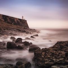 Porthcawl Lighthouse (Julian Pett) Tags: porthcawl bridgend wales cymru beach rocks sea lighthouse long exposure waves