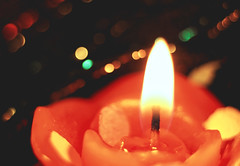 Happy 10 Years! - Macro Mondays (kinaaction) Tags: macromondays happy10years celebration fete festivity candle rosecandle light bokeh sonyilce6000 sony