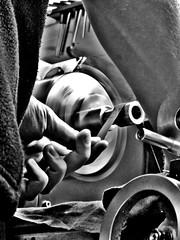 Stefan Gotteswinter - Modelengineering, Machining and Toolmaking in the Homeshop (One-Basic-Of-Art) Tags: monochrom monochrome tfp shooting schwarz weis weiss black white noir blanc edit bearbeitet stefan gotteswinter stefangotteswinter gtwr anne woyand annewoyand canon modelengineering machining toolmaking werkstatt boyfriend boy man male people portrait person human mensch 1basicofart onebasicofart