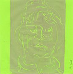 2016.01.22b Blimey Limey (Julia L. Kay) Tags: gelli gelliplate monoprint monotype print printmaking juliakay julialkay julia kay artist artista artiste künstler art kunst peinture dessin arte woman female sanfrancisco san francisco sketch dibujo selfportrait autoretrato daily everyday 365 self portrait portraiture face dpp dailyportraitproject