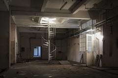 stairs to heaven? (jkatanowski) Tags: abandoned forgotten urbex indoor urban exploration canon poland europe decay sigma 1835mm stairs hallway sunlight