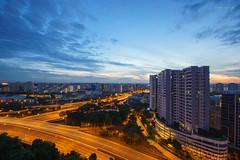 DSC09558_LR (teckhengwang) Tags: landscape sunrise singapore hdb