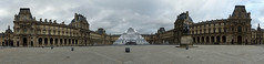 Louvre museum panoramic (eutouring) Tags: paris france louvre louvremuseum museum panoramic panorama courtyard cournapoleon wide architecture pyramid