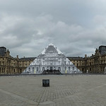 Louvre museum panoramic thumbnail