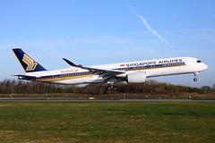 9V-SMF_MAN_240317_KN_282 (JakTrax@MAN) Tags: 9vsmf singapore airlines airbus a350 a350900 sq sia manchester airport man egcc 359 10000th