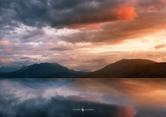 Flamboyant (daicaphoto) Tags: sunshine exterieur landscape reflet nature mountains outdoor panorama force orange lac intensity contrast intense montagne strength color nuage ocontraste sky couleurs strong annecy paysage coucherdesoleil