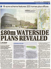 £80m Waterside Plans 7th November 2016 History of Leicester (KiranParmar) Tags: history leicester leicestert mercury cuttings news historical £80m waterside plans 7th november 2016