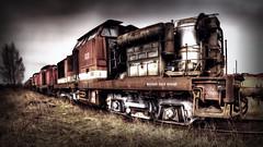 - train cemetery - (Der_Falke) Tags: train zug lok abandoned cemetery friedhof verlassen decayed verfallen bahn deutsche verrosted rostig rusty crusty eisenbahn lokomotive zugmaschine