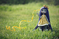 """Baillonne - """" Playing Moment """" (Nickocha) Tags: poulpy lillycat doll dolls bjd ball jointed ooak artist lullaby outfit wig blue spring"""