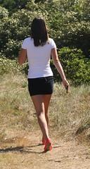 193 (SadCire) Tags: woman frau femme mujer girl thigh calves legs miniskirt minidress skirt street candid sexy teen