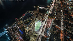 Tribeca Look Down (20170408-DSC09773) (Michael.Lee.Pics.NYC) Tags: newyork onewtc worldtradecenter observatory tribeca aerial weststreet goldmansachs 111murraystreet hudsonriver pier25 brookfieldplace rooftops night longexposure sony a7rm2 zeissloxia21mmf28