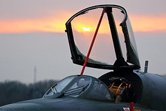 Hawker Hunter at former RAF Bruntingthorpe at sunset (Steve Moore-Vale) Tags: hawker hunter sunset canopy raised aeroplane jet raf history aviation airplane plane military bruntingthorpe timeline events tle