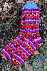 2017.04.12. hot socks stripes sukat 40-41 3012m (villanne123) Tags: 2017 socks sukat villanne villasukat anklesocks neulottu neulotut nilkkasukat hotsocksstripes gruendl gruendlwolle forsale myyntiin myydään knitting