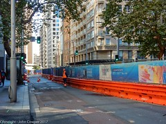 CBD & South East Light Rail - George Street - Update 14 Apil 2017 (5) (john cowper) Tags: cselr georgestreet grosvenorstreet bridgestreet bondstreet jamiesonstreet goodfriday tracklaying sydneylightrail alignment altrac alstom transportfornsw infrastructure sydney newsouthwales