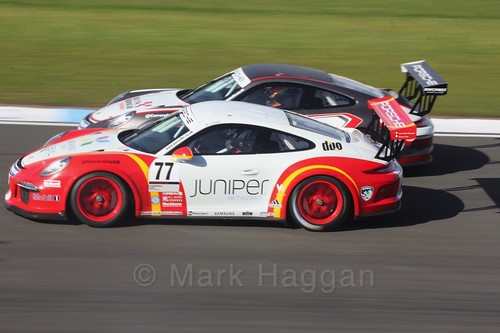 Lewis Plato in the Porsche Carrera Cup Race One during the BTCC Weekend at Donington Park 2017: Saturday, 15th April