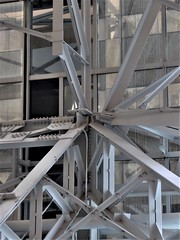 Chicago, Ogilvie Transportation Center, Abstract (Mary Warren (8.2+ Million Views)) Tags: chicago ogilvietransportationcenter citibankcenter architecture building abstract lines metal girders rivets diagonals