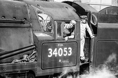 Watching (Pedaes) Tags: 34053 sirkeithpark battleofbritainclass swanagerailway southernrailway swanage galabullied