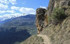 fin de la via ferrata, Nax (bulbocode909) Tags: valais suisse nax montnoble viaferrata valdhérens montagnes nature sentiers rochers paysages nuages printemps vert bleu