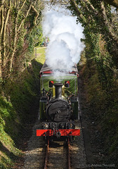 13 Above (manxmaid2000) Tags: above below steam engine kissack isleofman iom rail track beyerpeacock ballabeg manx trees smoke chimney rural 240t