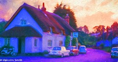 The Country Pub (M C Smith) Tags: pub country building sign cars motorbike trees thatched green houses