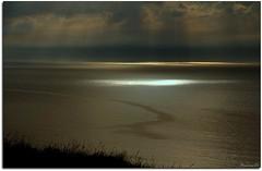 Que la lumière soit... (Nanouch@) Tags: coucherdesoleil lumière mer normandie paysage reflet landscape paisaje mar sea reflections normandy light lumières sunset nature letréport lamanche france côte ciel sky cielo