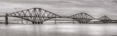 Three bridges; the Forth Rail Bridge, the Forth Road Bridge and the New Bridge; Firth of Forth, Scotland (Michael Leek Photography) Tags: bridge architecture bridges forthrailbridge firthofforth forthroadbridges water scotland iconic awesomescotland thisisscotland hdr michaelleek michaelleekphotography highdynamicrange scottishlandscapes scottishcoastline scotlandslandscapes coast panorama panoramic photomerge