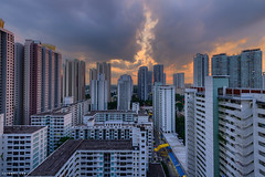 Second (lionelleephotography) Tags: hdb publichousing singapore sky sunset toapayoh town urban