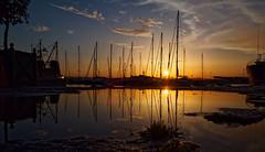 Syracuse (abory03) Tags: port bateaux coucher de soleil omd em1 olympus reflet eau mer ciel siracusa italy ortigia syracuse