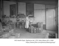 NYS  Health  dept  diptheria  lab  278  Yates st.  circa  1908  albany ny (albany group archive) Tags: early 1900s