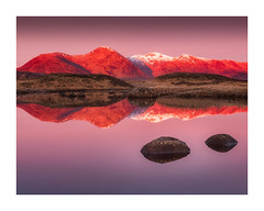 Rannoch Reds (Vemsteroo) Tags: scotland rannochmoor glencoe sunrise dawn colourful epic dramatic canon 5d mkiii 2470mm leefilters highlands spring winter snow reflection soft serene ethereal beautiful nature rannoch moor visitscotland visitbritain outdoors travel