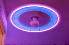 IMGP3288 (boatsalad) Tags: flickrfriday ceiling fan glowsticks longexposure purple