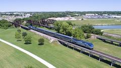 AMTK 62 south (KB5WK) Tags: amtk62 amtrak heartlandflyer railroad railway fortworth texas unitedstates