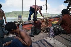* (Sakulchai Sikitikul) Tags: street snap streetphotography songkhla sony a7s voigtlander 28mm thailand boat worker sea seascape dog burmese