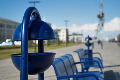 - ashtray in the habor - (-wendenlook-) Tags: color colors blau blue bokeh sony a7ii 28703556 70mm 1800 f56 iso100