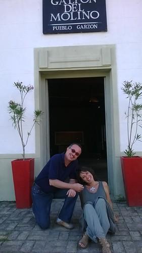 Con Edgardo Salamano, el curador