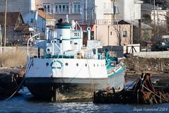 JOHN B. CADDELL Joins the Boneyard of Arthur Kill (TugSailor) Tags: abandoned marine maritime tug kills derelict boneyard wrecks newyorkharbor arthurkill libertyservice