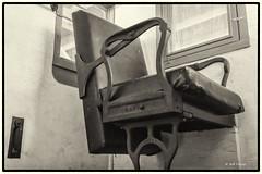The High Chair_MG_3046 (Kool Cats Photography over 7 Million Views) Tags: city blackandwhite history oklahoma museum canon chair artistic interior caboose oklahomacity railroads yabbadabbadoo oklahomarailwaymuseum