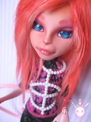 Caemille (Kate's Creations) Tags: girl monster cat high dolls ooak cam create custom mattel repaint createamonster