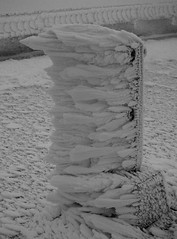76.7 cm (30.2 inches) or rime ice in 24 hours (rightthewrong) Tags: park new white snow mountains building ice observation washington mt post adams state feathers feather peak nh hampshire presidential pole mount deck observatory summit april rime range sherman apr obs 2014 mwo presidentials
