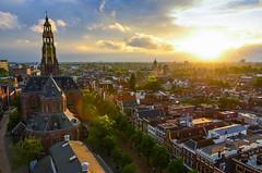 Groningen above (zorwick) Tags: above city sunset sun west netherlands clouds spring nikon nederland citylife groningen 1735