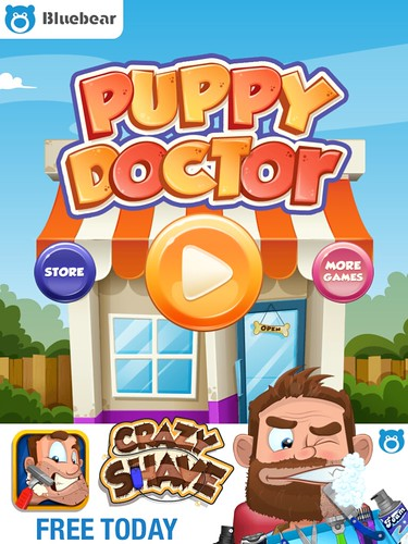 Puppy Doctor Main Menu: screenshots, UI