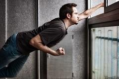 Voglia di spiccare il volo (Riccardo Mollo) Tags: selfportrait window fly levitation superman finestra autoritratto volare levitazione