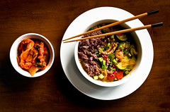 Doenjang Jjigae () (afternoon_dillight) Tags: food make recipe soup rice cook bowl bean eat korean squash carrot chop seafood stick taste soy kimchi prepare fermented