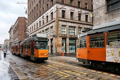 Trams de Milan (Claude-Olivier Marti) Tags: milan europe italia milano tram rail tramway italie ville moyendetransport
